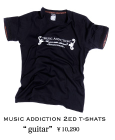 MUSIC ADDICTION 2ed T-SHATS guitar