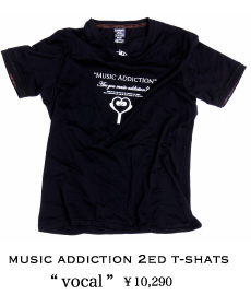 MUSIC ADDICTION 2ed T-SHATS vocal
